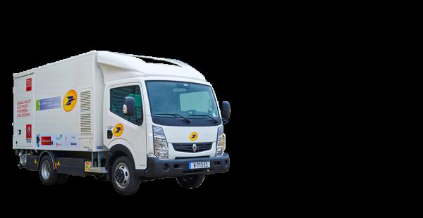 la poste teste un camion lectrique renault prolongateur d autonomie l hydrog ne. Black Bedroom Furniture Sets. Home Design Ideas